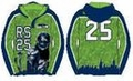 Richard Sherman #25 (Seattle Seahawks) NFL 2015 Player Poly Hoody