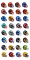 Riddell Blaze Alternate Speed Mini Helmets Complete set (32)