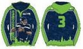 Russell Wilson #3 (Seattle Seahawks) NFL 2015 Player Poly Hoody