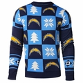 San Diego Chargers 2016 Patches NFL Ugly Crew Neck Sweater by Forever Collectibles