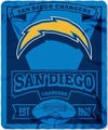 San Diego Chargers NFL Fleece Throw Blanket