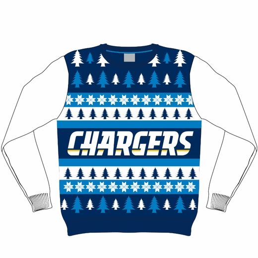 San Diego Chargers NFL Ugly Sweater Wordmark