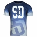 San Diego Padres MLB Gray Gradient Tee by Forever Collectibles