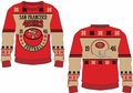 San Francisco 49er Retro Cotton Sweater by Klew