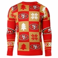 San Francisco 49ers 2016 Patches NFL Ugly Crew Neck Sweater by Forever Collectibles