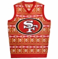 San Francisco 49ers Aztec NFL Ugly Sweater Vest