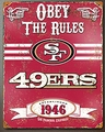 San Francisco 49ers Embossed Metal Sign