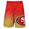 San Francisco 49ers NFL 2016 Gradient Polyester Shorts By Forever Collectibles