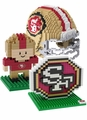 San Francisco 49ers NFL 3D BRXLZ Puzzle Set By Forever Collectibles