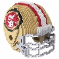 San Francisco 49ers NFL 3D Helmet BRXLZ Puzzle By Forever Collectibles