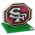 San Francisco 49ers NFL 3D Logo BRXLZ Puzzle By Forever Collectibles