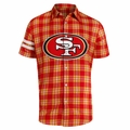 San Francisco 49ers NFL Colorblock Short Sleeve Flannel