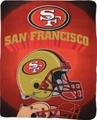 San Francisco 49ers NFL Fleece Throw Blanket