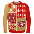 San Francisco 49ers NFL Ugly Sweater Busy Block