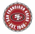 San Francisco 49ers NFL Wall Decor Bottlecap Collection by Forever Collectibles