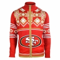 San Francisco 49ers Split Logo NFL Sweater Jacket