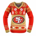San Francisco 49ers (Women's V-Neck) NFL Ugly Sweater