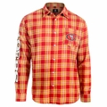 San Francisco 49ers Wordmark Mens Long Sleeve Flannel Shirt