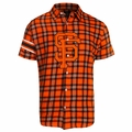 San Francisco Giants MLB Colorblock Short Sleeve Flannel by Forever Collectibles