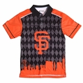 San Francisco Giants MLB Polyester Short Sleeve Thematic Polo Shirt