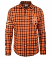 San Francisco Giants Wordmark Mens Long Sleeve Flannel Shirt
