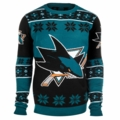 San Jose Sharks Big Logo NHL Ugly Sweater