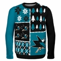 San Jose Sharks NHL Ugly Sweater Busy Block