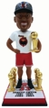 Scottie Pippen (Chicago Bulls) 1998 Champ Tee/Hat Bobble Head 6X Champ Trophy/Retired Number Base Exclusive by Forever Collectibles