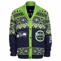 Seattle Seahawks 2015 NFL Ugly Sweater Cardigan