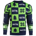 Seattle Seahawks 2016 Patches NFL Ugly Crew Neck Sweater by Forever Collectibles