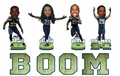 "Seattle Seahawks ""BOOM"" NFL Bobble Head Forever"