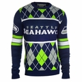 Seattle Seahawks NFL Argyle Sweater CLARKtoys Exclusive