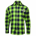 Seattle Seahawks NFL Checkered Men's Long Sleeve Flannel Shirt