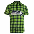 Seattle Seahawks NFL Colorblock Short Sleeve Flannel