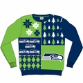 Seattle Seahawks NFL Ugly Sweater Busy Block