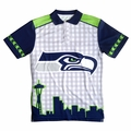 Seattle Seahawks NFL Polyester Short Sleeve Thematic Polo Shirt