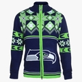 Seattle Seahawks Split Logo NFL Sweater Jacket