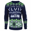 Seattle Seahawks NFL Super Bowl Commemorative Crew Neck Sweater
