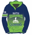 Seattle Seahawks Super Bowl XLVIII Champions Poly Hoody Tee