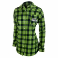 Seattle Seahawks NFL Women's Wordmark Long Sleeve Flannel Shirt