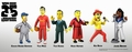 "The Simpsons 25th Anniversary 5"" Action Figures Series 1 Complete Set (6) NECA"