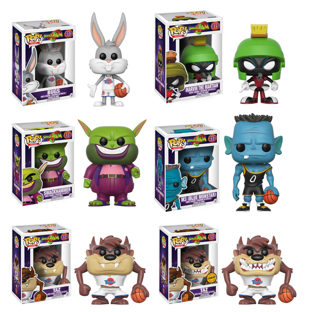 Space Jam Complete Set W Chase 6 Funko Pop