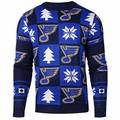 St. Louis Blues 2016 Patches NHL Ugly Crew Neck Sweater by Forever Collectibles
