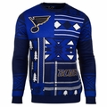 St. Louis Blues NHL Patches Ugly Sweater by Klew