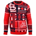 St. Louis Cardinals 2016 Patches MLB Ugly Crew Neck Sweater by Forever Collectibles