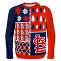 St Louis Cardinals MLB Ugly Sweater BusyBlock