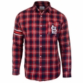 St. Louis Cardinals Wordmark Mens Long Sleeve Flannel Shirt