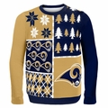 St. Louis Rams NFL Ugly Sweater Busy Block