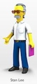 """Stan Lee The Simpsons 25th Anniversary 5"""" Action Figure Series 5 NECA"""