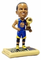 "Stephen Curry (Golden State Warriors) 2015 NBA 3-Point Shootout Champion Trophy/Newspaper Base 5"" Bobble Head Exclusive by Forever Collectibles"